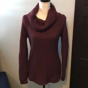 Calvin Klein cowl neck tunic  sweater XS Purple